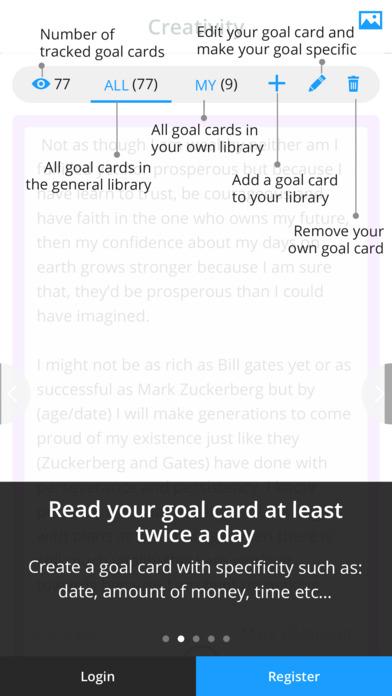 iGoalCard: Daily Life Planner & Goals Tracker Screenshot