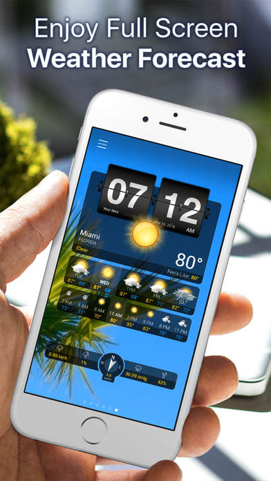 Weather+ Free iPhone Screenshot 1