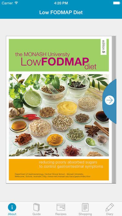 Monash University Low FODMAP Diet Screenshot