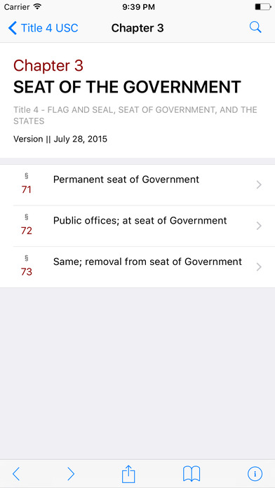 Flag and Seal, Seat of Government, and the States (Title 4 United States Code) iPhone Screenshot 2
