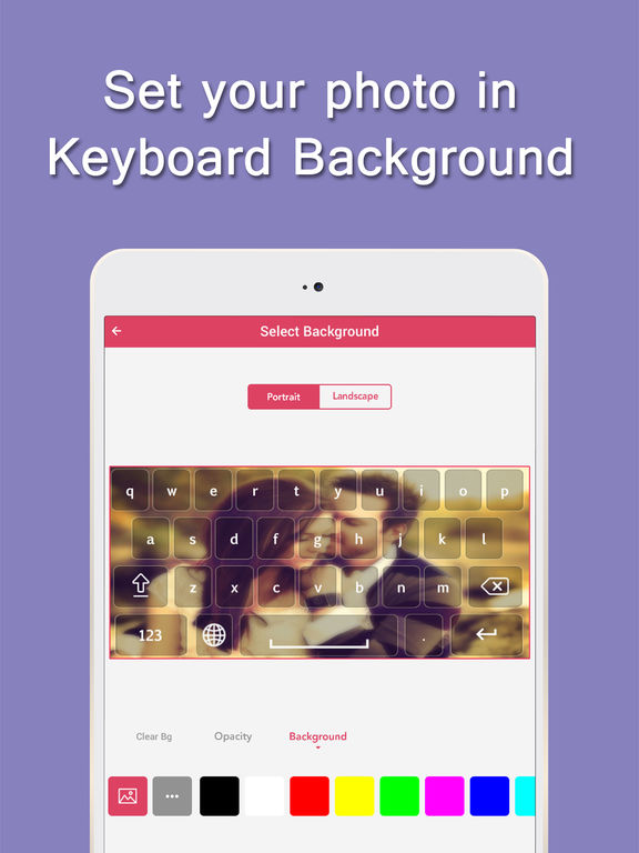 Screenshot #4 for My Photo Background Keyboard pro