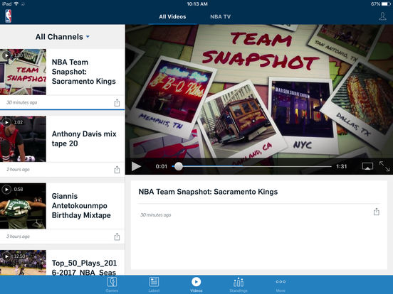 2016-17 NBA App Screenshots