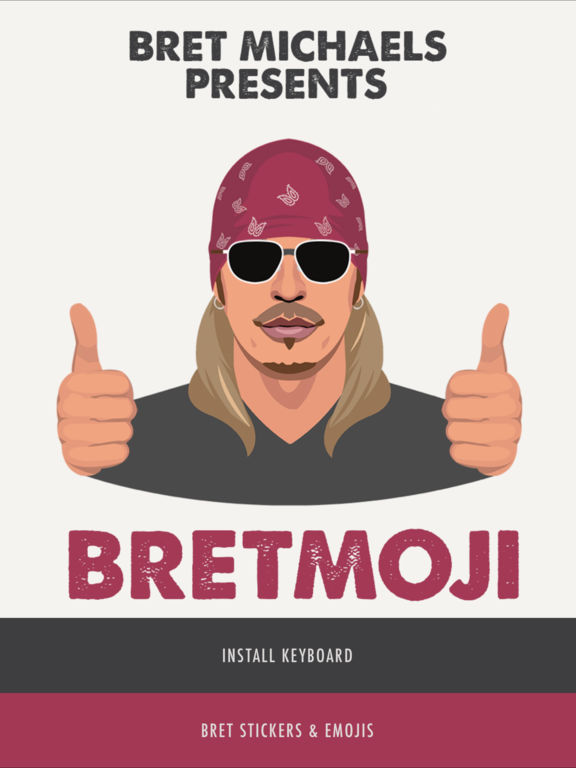 Bret Michaels Emojis plus Lyric Keyboard screenshot 5