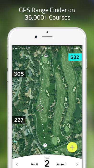 TrackMyGolf: Golf GPS free scorecard range finder app image