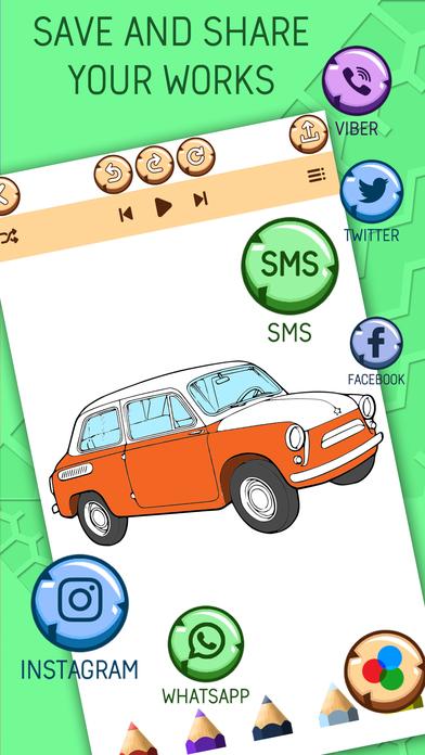 Автомобиль Раскраски Для Детей - Игра Покраска Скриншоты4