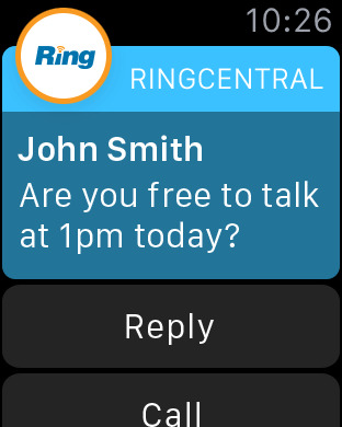 RingCentral Mobile iPhone Screenshot 6