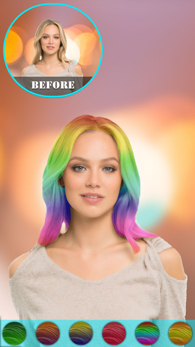 App Shopper Hair Color Changer Hairstyle Makeover Booth