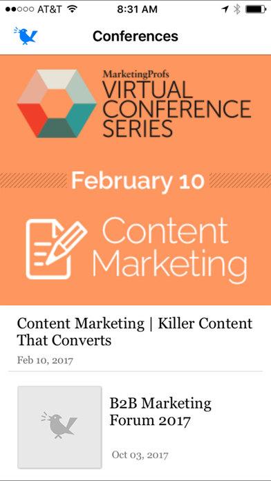 MarketingProfs iPhone Screenshot 3