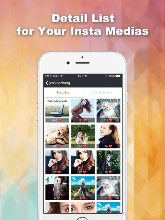 Screenshots of Likes Tracker: Likes and Followers + for Instagram for iPad