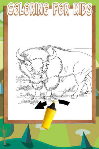 Tap Bison Color Book For Toddle screenshot 1