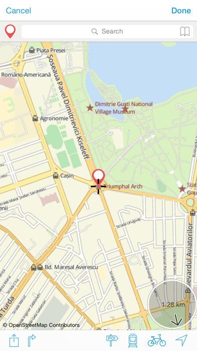 Bucarest on foot : Offline Map Screenshots
