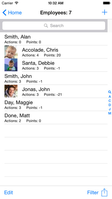 Employee Tracker Lite iPhone Screenshot 1