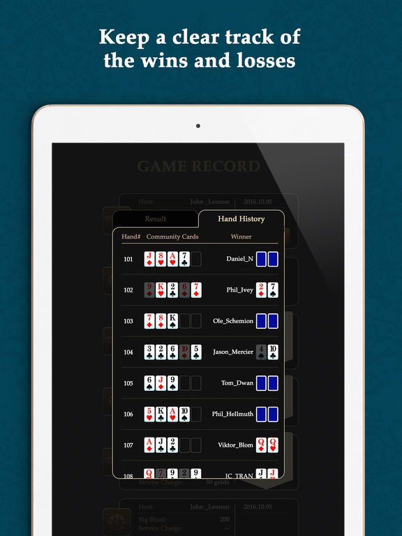 Iphone virtual poker chips
