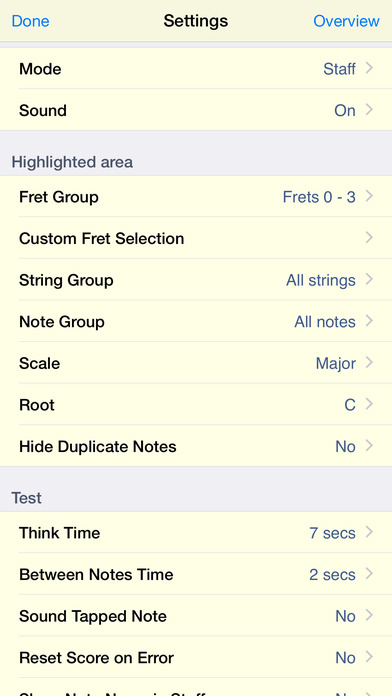 Guitar Sight Reading & Fretboard Trainer iPhone Screenshot 3