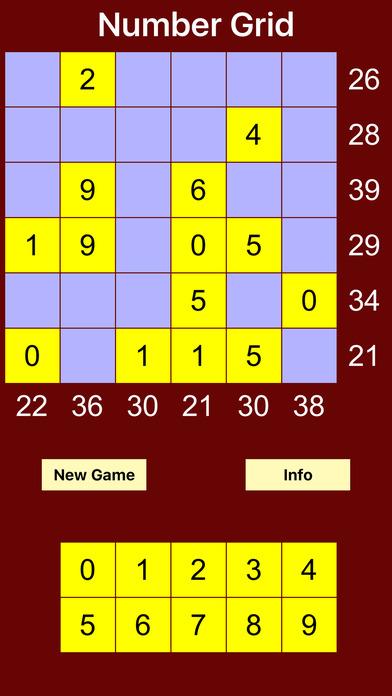 NumberGrid iPhone Screenshot 1
