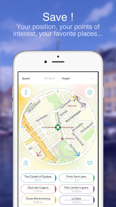 Quebec City on Foot : Offline Map Screenshots