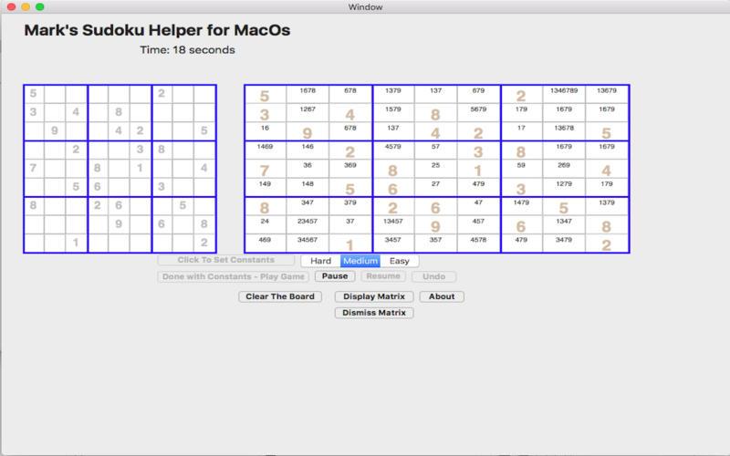 MarksSudokuHelper for Mac