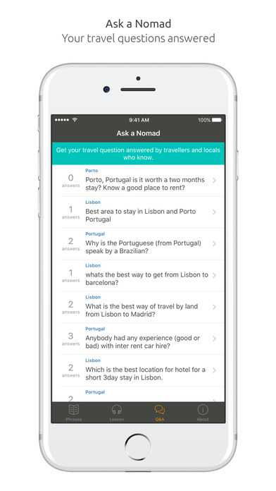 World Nomads Portuguese Language Guide iPhone Screenshot 5