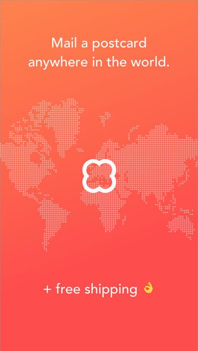 App to send free postcards