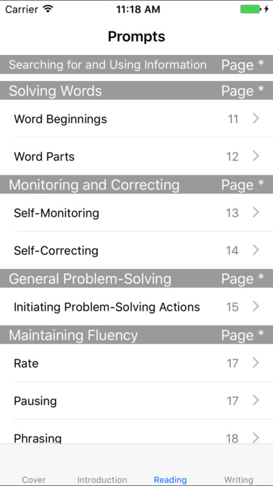Fountas and Pinnell Prompting Guide 1 iPhone Screenshot 1