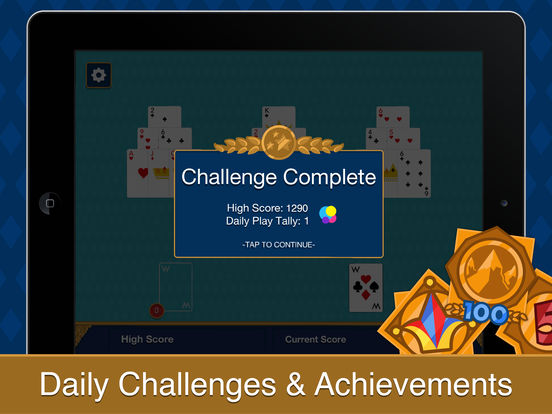 Three Peak Solitaire iPad Screenshot 3