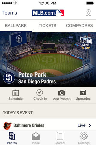 MLB Ballpark screenshot 1