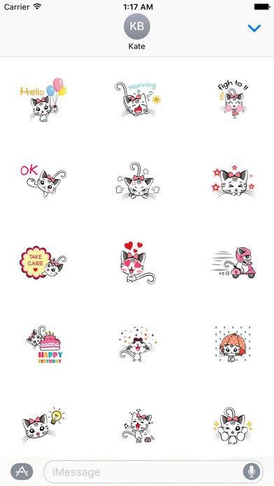 Pretty Kitty Sticker screenshot 1