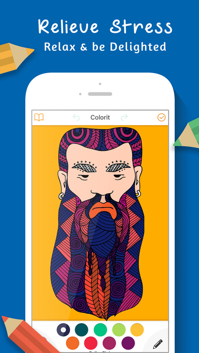 Coloring Book : Coloring Book for Adults - Free Apps free for iPhone/iPad screenshot