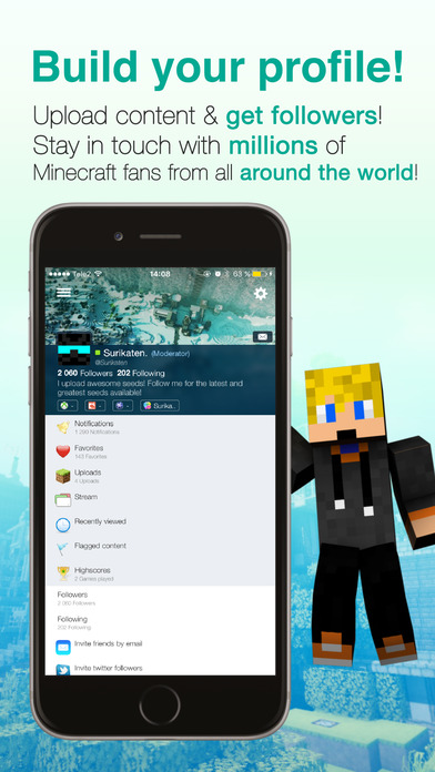 Screenshots of Minecraft Seeds Lite for iPhone