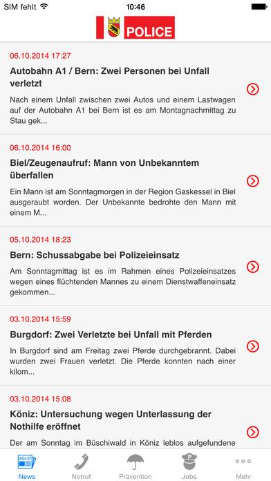 Police News iPhone Screenshot 1