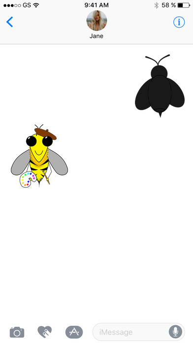 Bee Five Sticker Pack! screenshot 3