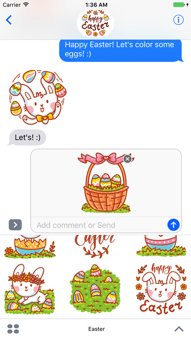 Happy Easter! stickers for iMessage iPhone Screenshot 4