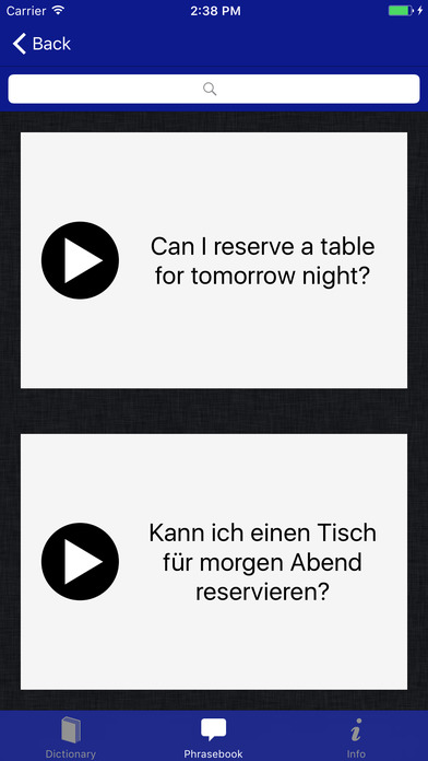 German-English Language Pack from Accio iPhone Screenshot 3