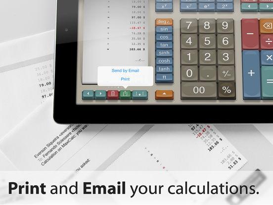 MaxiCalc Pro: Big Retro LCD Paper Tape Calculator Screenshots