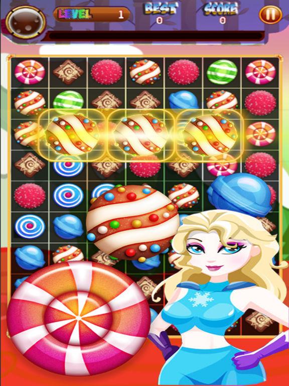 Superhero Candy Sweet Puzzle: Ice Mania screenshot 3
