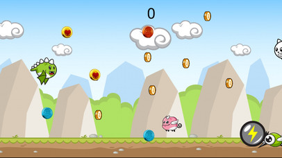 Cute Flying Dino Jurrasic Dash screenshot 1
