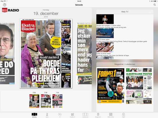 eBladet archive iPad Screenshot 1