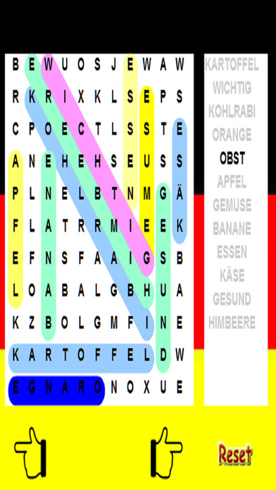 German Word Search - Language - 15 Levels Screenshots