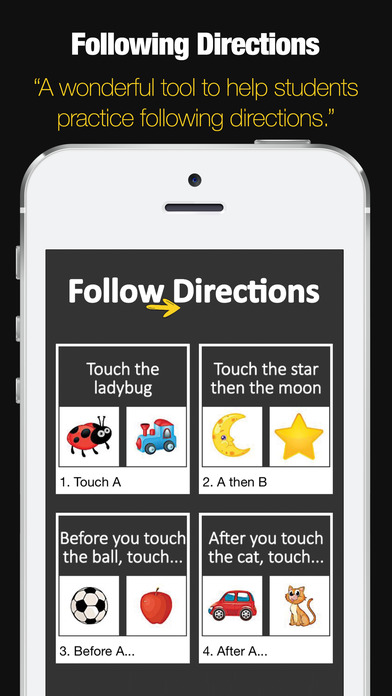 Following Directions Game Apps for iPhone/iPad screenshot