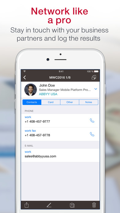 Business Card Scanner & Reader & Contacts Manager Screenshots