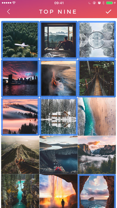 Image of Top Nine for Instagram - Pic Collage & Video Maker for iPhone
