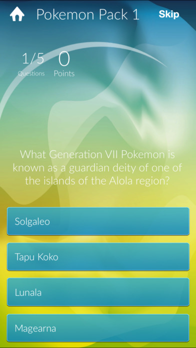 Quiz Pokemon GO Edition Screenshot