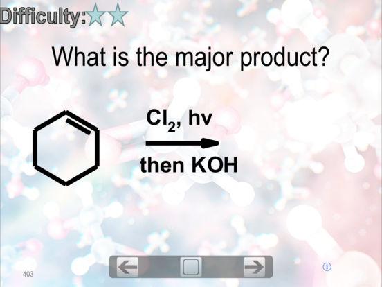 Organic Chemistry FlashCards iPad Screenshot 3