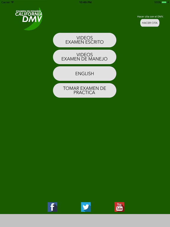 Ca dmv examen en espanol on the app store