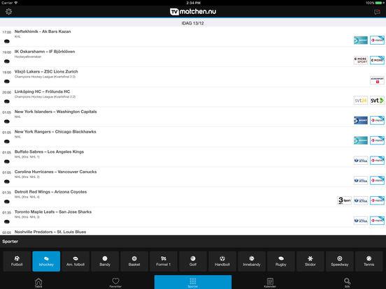 tvmatchen.nu iPad Screenshot 2