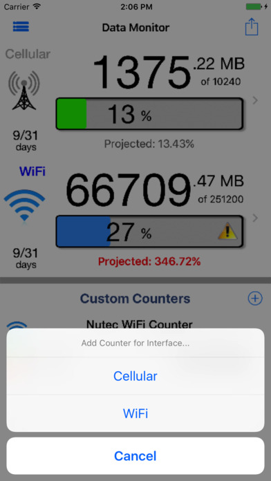Data Monitor Pro - Control Data Usage in Real Time Screenshots