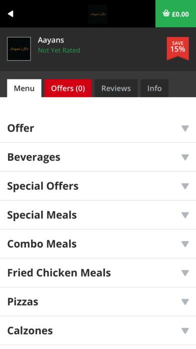Aayans Fast Food screenshot