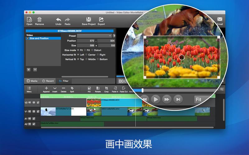 视频编辑大师 – 最强大易用的视频编辑软件 for Mac