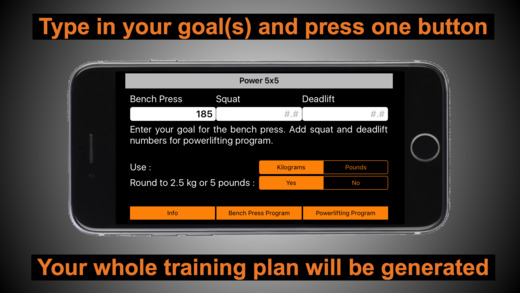 Power 5x5 - Bench Press Strength Training Screenshots