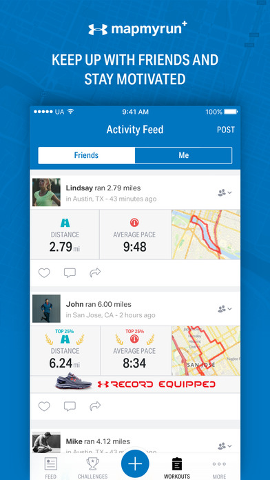 Map My Run+ - GPS Running & Workout Tracker Screenshots